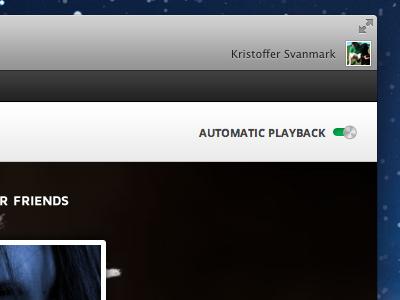 Automatic playback