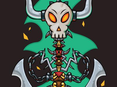 Free Halloween Vector Illustration free halloween holiday vector illustration vectorart free halloween vector free halloween illustration dark skull item game design