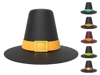 Free Thanksgiving Hat 3D by pixaroma on Dribbble