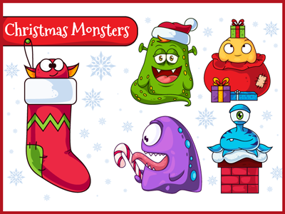 Christmas Vector Monsters
