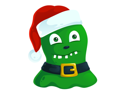 Free Christmas Monster PSD free christmas xmas monster illustration icon psd png santa hat