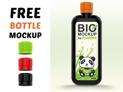 Free Bio Bottle Mockup PSD render 3d free bottle mockup template psd bio bottle mockup