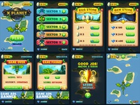 Xplanet Game UI Design by pixaroma on Dribbble