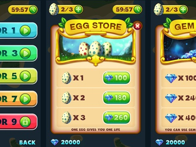 Xplanet Game UI Design by pixaroma on Dribbble