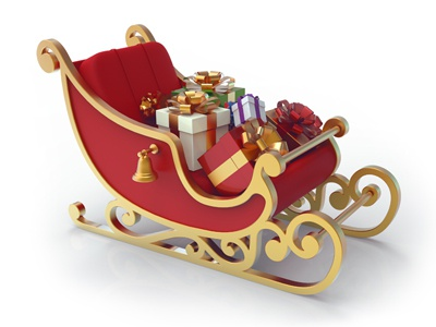How to Draw Santa's Sleigh, Christmas, Holidays, Easy Step-by-Step ...
