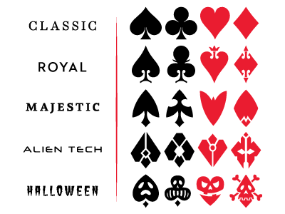 Poker card shapes photoshop blowing money