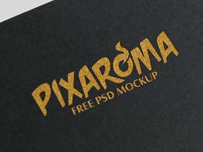 Free Golden Logo Mockup PSD template mock up logo mockup freebie psd design logo mockup golden free