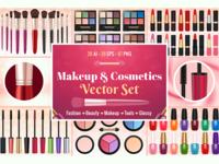 Makeup And Cosmetics Vector Set