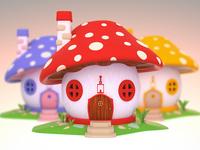 Fantasy Mushroom House 3D Design