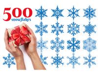 500 Snowflake Vector Ornaments