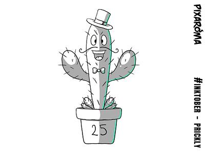 Inktober Daily Challenge Day 25 - Prickly prickly cactus character illustration challenge cartoon creative drawing photoshop sketching sketch inktober2018 inktober