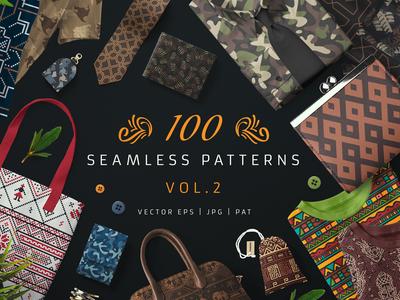 100 Seamless Patterns Vol.2