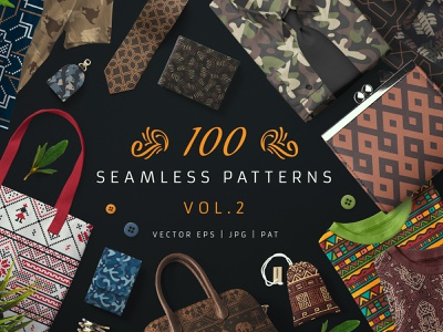 100 Seamless Patterns Vol.2 vintage deco camo wrapping paper wallpaper pattern design surface design motif romanian ethnic tribal army camouflage vector design seamless pattern seamlesspattern seamless