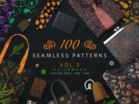 100 Seamless Patterns Vol 3 Halloween