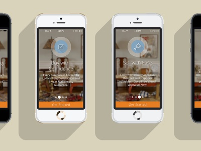 Intro Screens for Lofty intro lofty ios app intro screens ui application user interface user experience app design ux iphone 6 ios 8