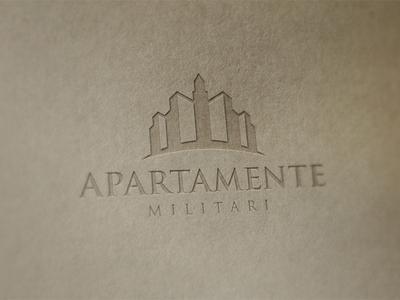 Logo for Apartamente Militari logo design design logo real estate company