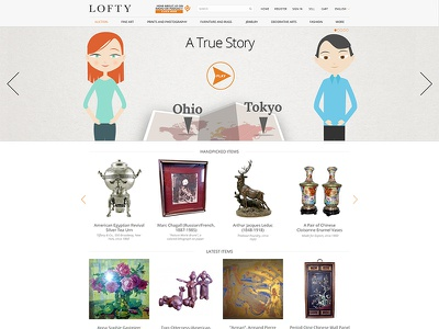 LOFTY: A True Story lofty design webdesign facelift homepage