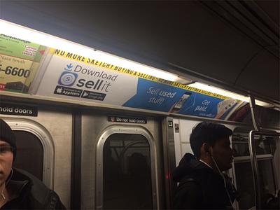 sell it subway ad subway ad ny design