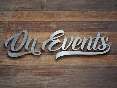 On Events / On Wedding new Logos branding calligraphy handlettering logo design wedding events design logo