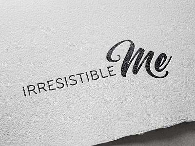 Logo: Irresistible Me extensions hair calligraphy handlettering logo design hair extensions design logo branding