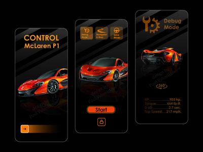 Mobile app for McLaren P1