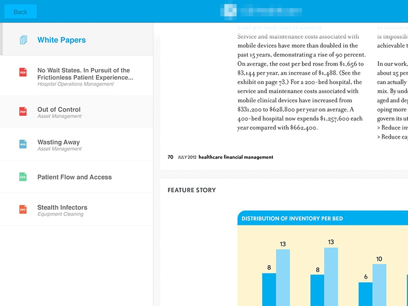 iPad App flat design app ipad graphs icons clean