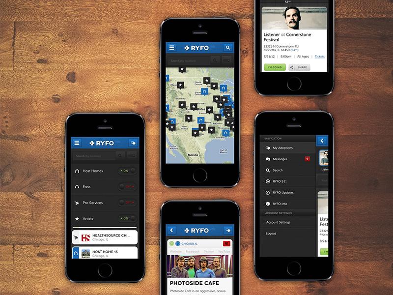 RYFO Portfolio portfolio ryfo naphtali marshall wood mobile ui ux app bands