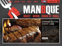 Man B Que Website Header