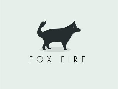 fox fire minimalist logo