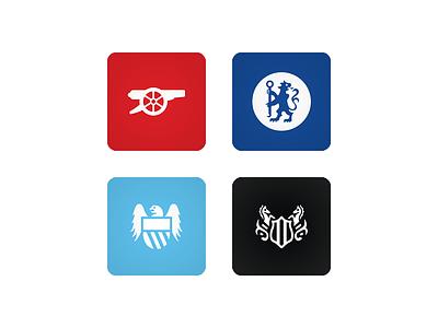 15/16 club crests icon football soccer premierleague barclayspremierleague fantasypremierleague fpl bpl