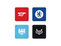 15/16 club crests