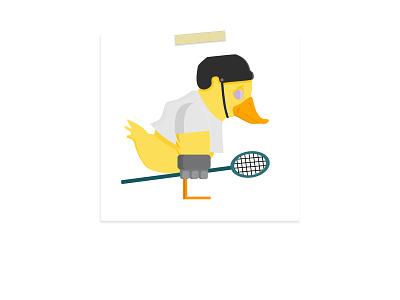Lacrosse Duck graphic design illustration art vector art vector drawing character designer cartoon character design illustration drawing digital art design