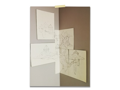Tree House layoutdesign layout corner black and white design installation art installation pencil drawing drawings drawing