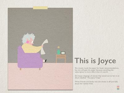 joyce persona character design characterdesign cartoon layout design typography illustration graphic design digital art drawing design