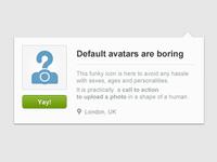 Default avatars are boring