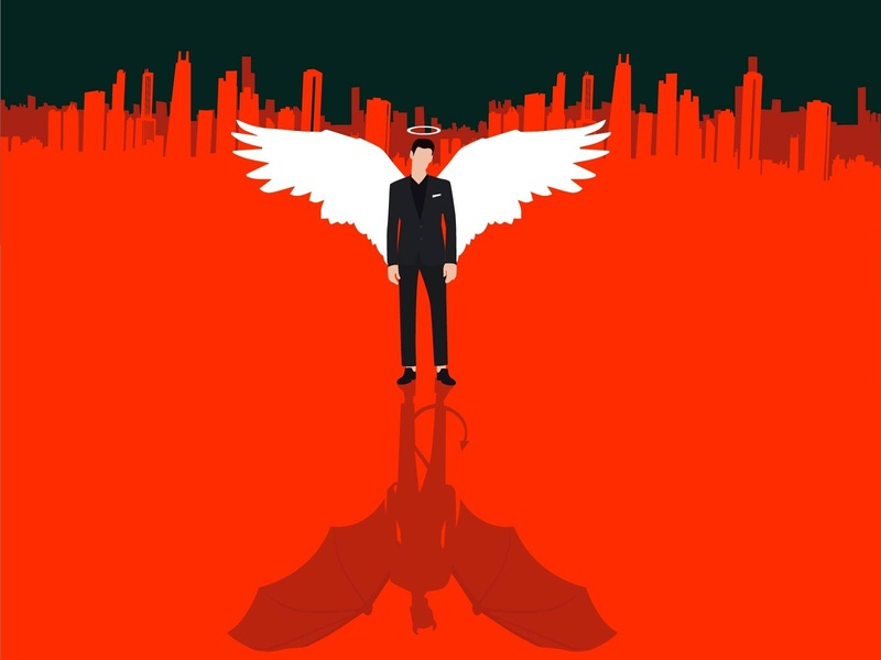 Lucifer The Devil angle comic art character design devil lucifer 2d character graphic flat illustration 2d concept vector illustration clean animation minimal inspiration creative conceptual design