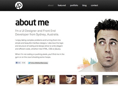 About Me Page about me portfolio about personal website photo avatar