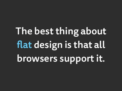 The best thing about flat design