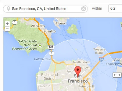 Geolocation Segments Feature map google map geolocation location pin search location search ui ux