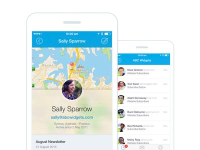 Monitor iPhone App iphone app campaign monitor app profile ui design
