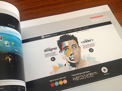 Featured in Web Design Gallery Book book portfolio published book feature