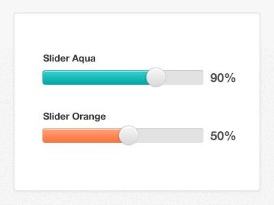 Slider slider gauge percentage ui user interface