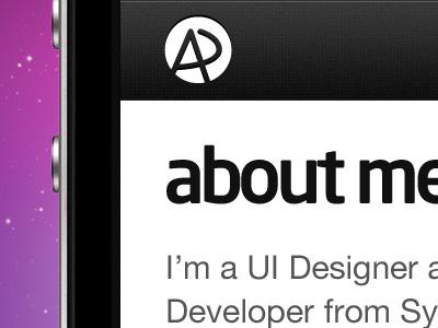Portfolio Website mobile iphone portfolio website ui user interface
