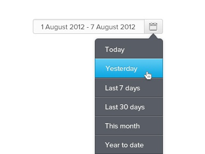 Date Picker Simple date picker date select ui ui design interface calendar calendar chooser