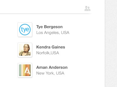 User profiles user profile avatar ui interface