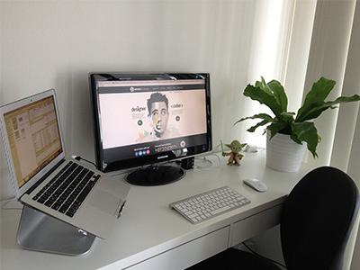 My Home Workspace workspace desk interior computer mac chair table designer workspace