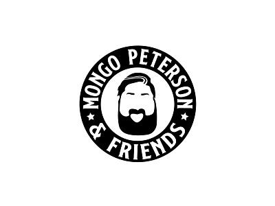 Mongo Peterson & Friends musician logo illustration