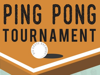 Ping Pong Tournament Poster Design