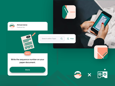 docomondo 🤳 - the personal paperwork assistant you need! macos artificial intelligence personal search document scanner file sharing file upload file manager dms document illustration animation react native react ui catalyst brand design case app