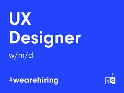 Apply as 🌟UX Designer🌟- now! futureisnow hiring design jobs designer leanux agile berlin ui ux wearehiring